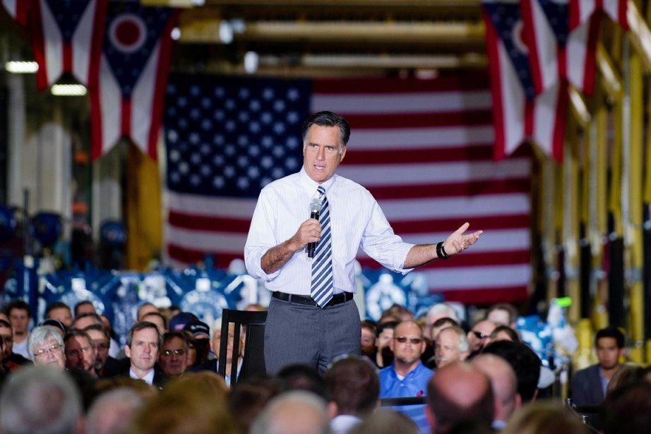 Mitt Romney en visite en Ohio, un des... (PHOTO JIM WATSON, AFP)