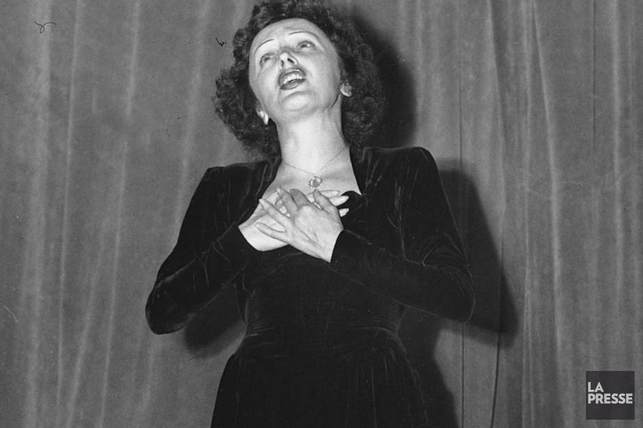 Édith Piaf lors d'un tour de chant au... (Photo: archives La Presse)