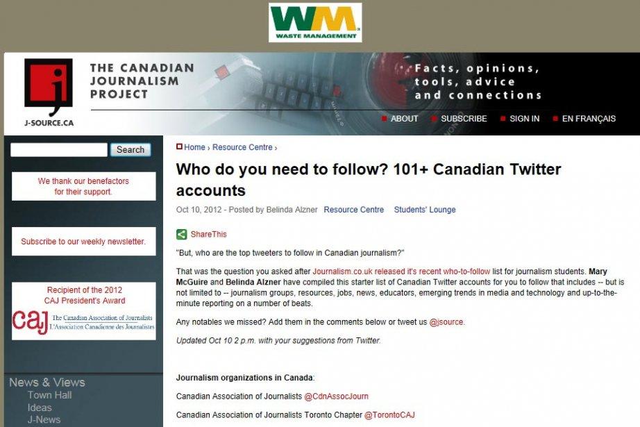 Le Canadian Journalism Project (CJP), ou Observatoire du journalisme   dans sa...