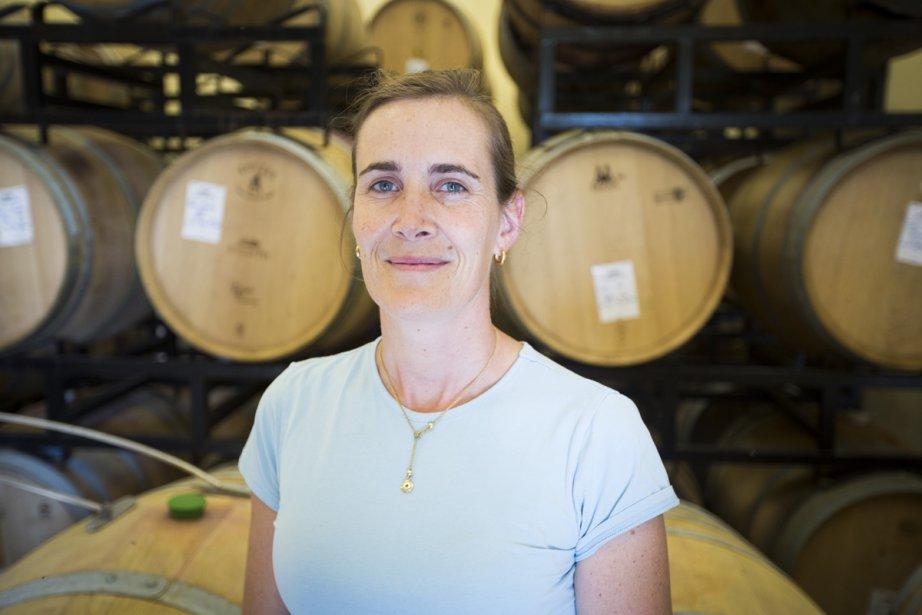 Séverine Pinte, vinificatrice du vignoble du Vieux Pin... (Photo: Olivier Pontbriand, La Presse)