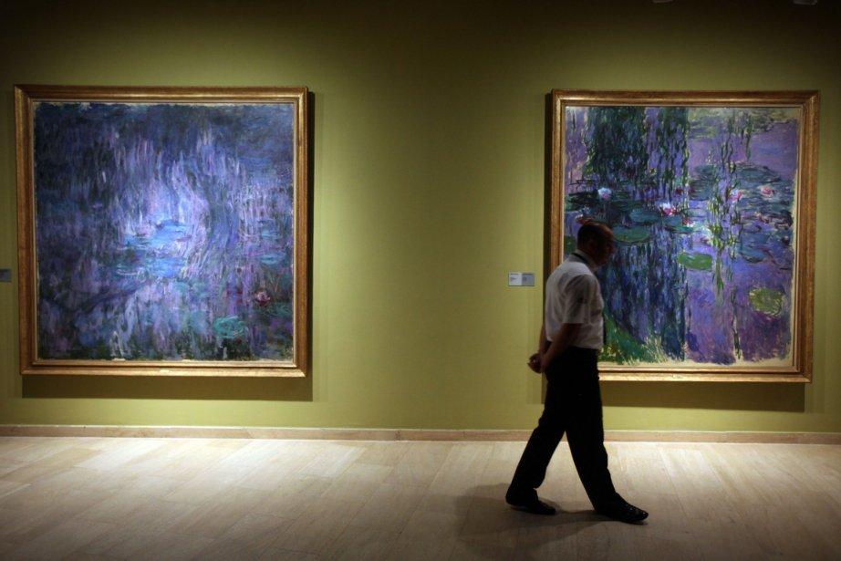 Des tableaux de la série Water Lilies de... (Photo AFP)