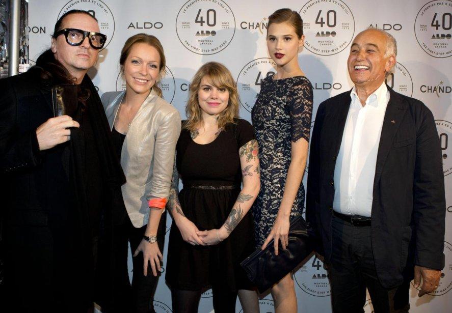 Denis Gagnon, Annie Villeneuve, Coeur de Pirate, Anaïs Pouliot et Aldo Bensadoun. | 11 octobre 2012