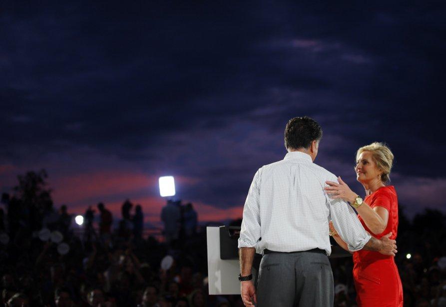 États-Unis: le candidat républicain à la présidence Mitt Romney et sa femme Ann lors d'un rassemblement en Floride, le 6 octobre 2012. | 11 octobre 2012