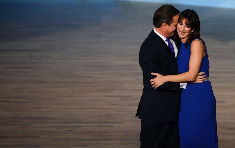 Grande-Bretagne: le premier ministre David Cameron et sa femme Samantha lors de la conférence annuelle du Parti conservateur à Birmingham, le 10 octobre 2012. | 11 octobre 2012
