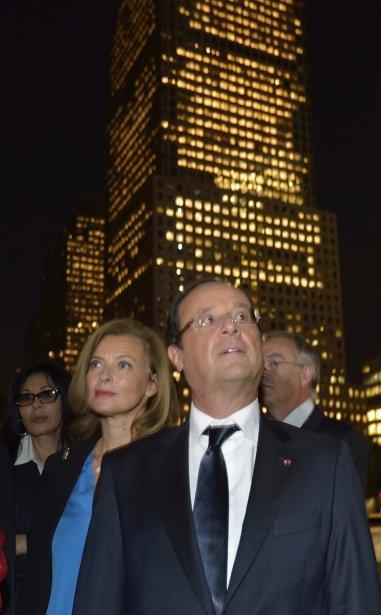 France: le président François Hollande et sa conjointe Valérie Trierweiler visitent Ground Zero à New York, le 25 septembre 2012. | 11 octobre 2012