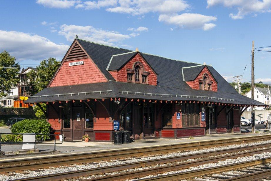 La gare de Brunswick, au Maryland. Bombardier a... (photo wikipédia)