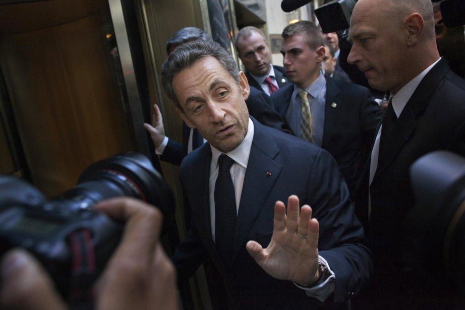 Nicolas Sarkozy lors de son passage à New... (Photo Reuters)