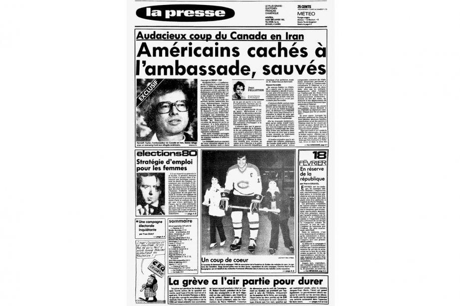 La une de La Presse du 29 janvier...