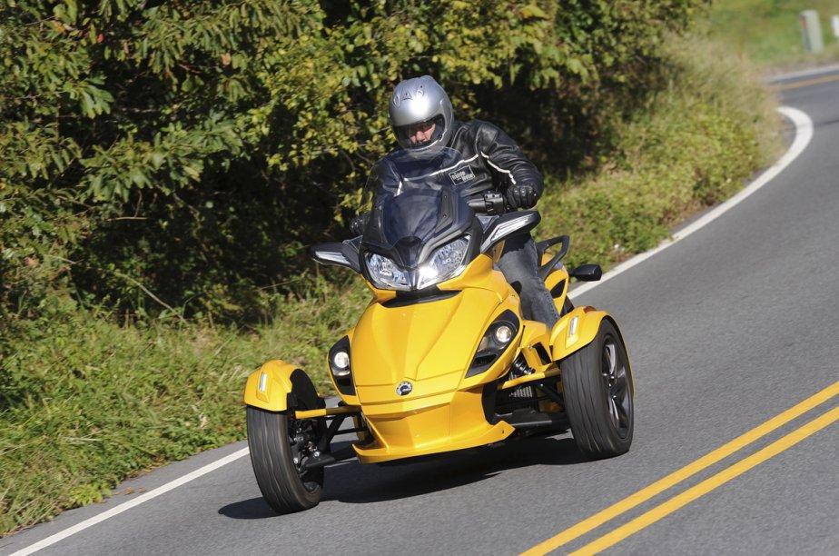 Le Can-Am Spyder ST de BRP.... (Photo fournie par BRP)
