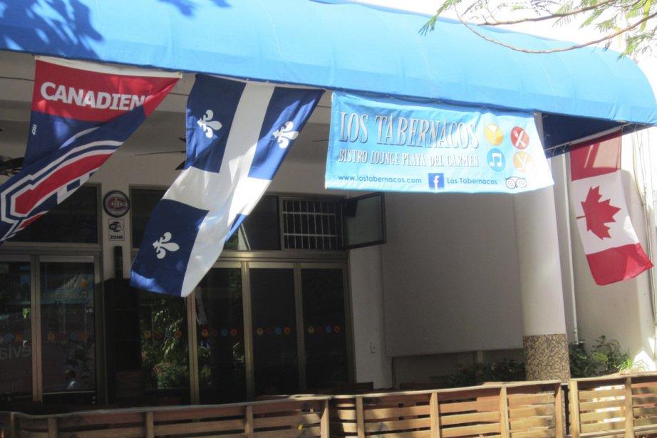 Le restaurant Los Tabernacos, à Playa del Carmen.... (Photo: Sophie Ouimet-Lamothe, La Presse)