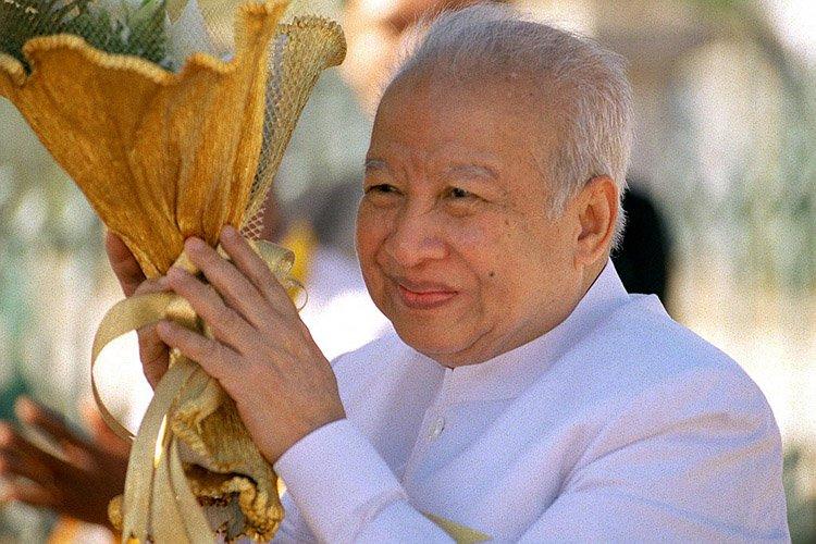 Norodom Sihanouk en 2002.... (Archives AFP)
