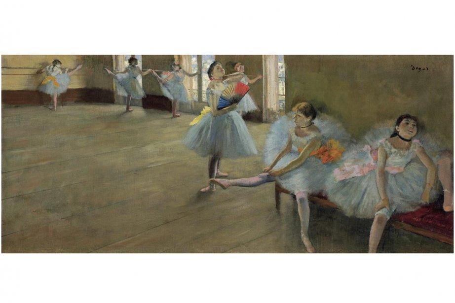 Danseuses au foyer, Edgar Degas.... (Photo: fournie par le Musée des beaux-arts de Montréal)