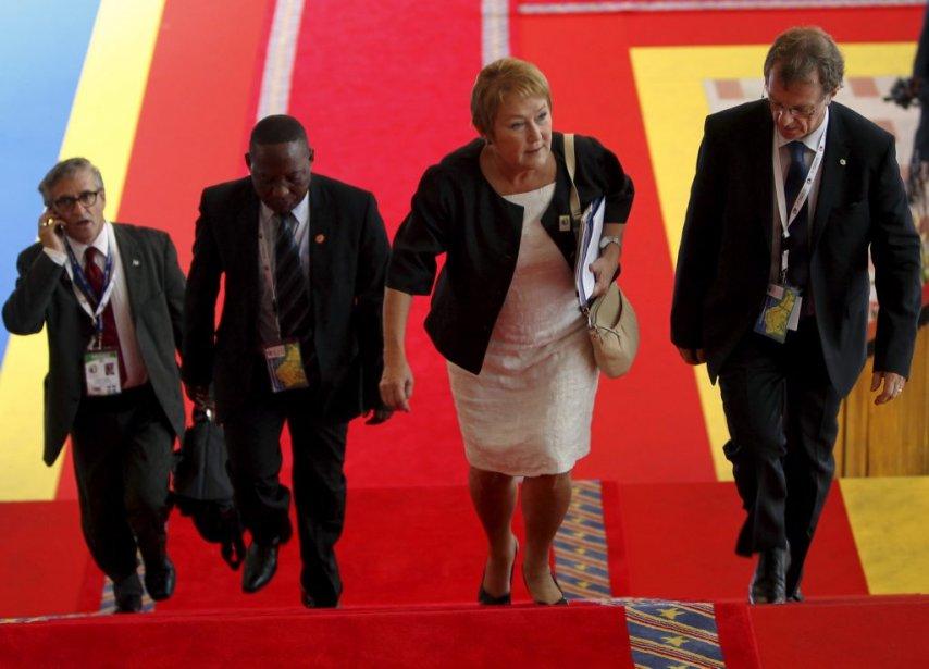 Pauline Marois au 14e sommet de la Francophonie. (Reuters)