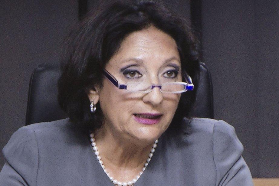 La juge France Charbonneau.... (Image vidéo)