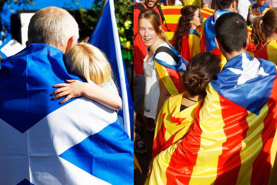 En Écosse comme en Catalogne, l'argument économique est... (PHOTOS REUTERS)