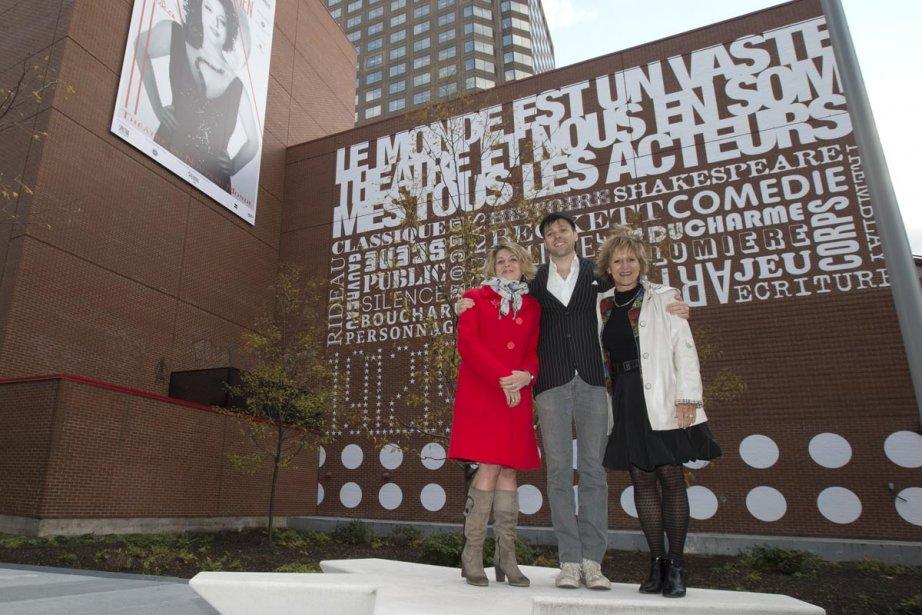 Une murale typographique a été inaugurée... (Photo: Robert Skinner, La Presse)