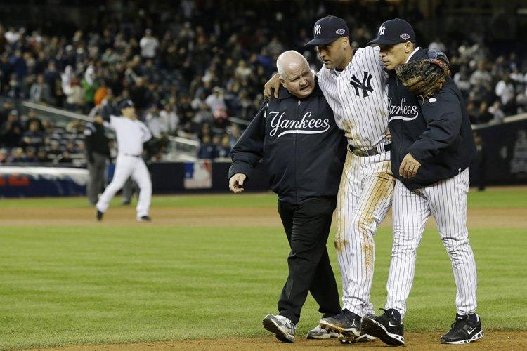 Derek Jeter a quitté le premier match de... (Photo: AP)