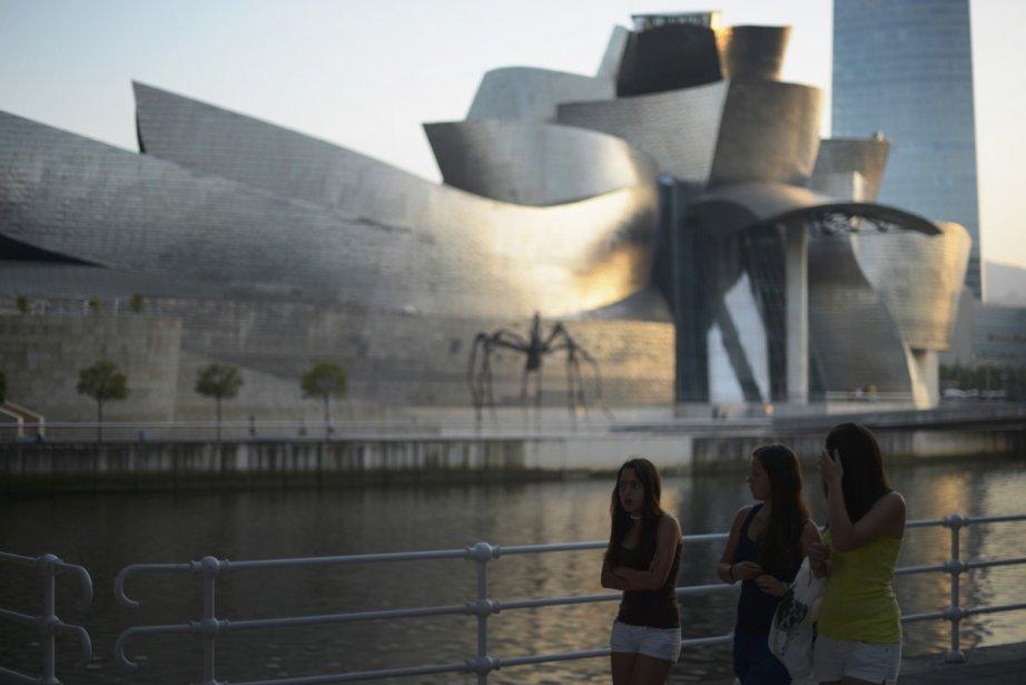 Le musée Guggenhein à Bilbao, en Espagne. | 18 octobre 2012