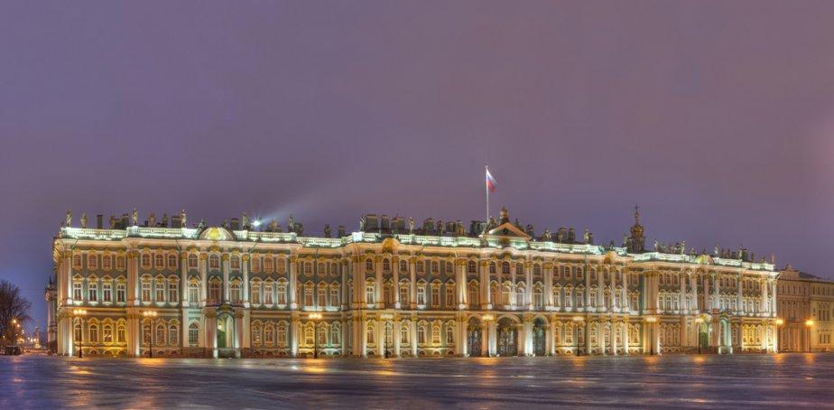 Le musée de l'Ermitage à Saint-Pétersbourg, en Russie. ()