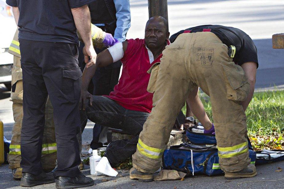 Un quinquagénaire a été blessé par balle lors... (PATRICK SANFAÇON, LA PRESSE)