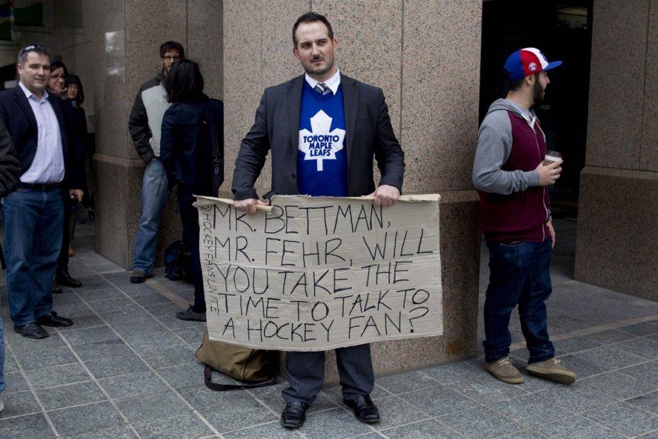 Le partisan des Maple Leafs de Toronto Barry... (Photo: PC)