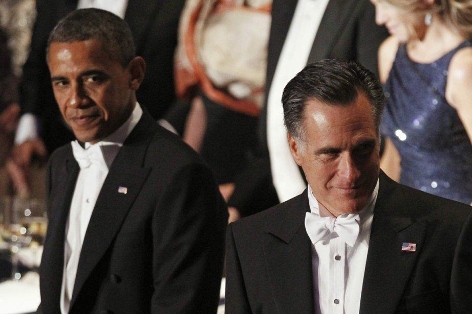 Mitt Romney, qui retrouvera Barack Obama lundi en... (Photo Reuters)