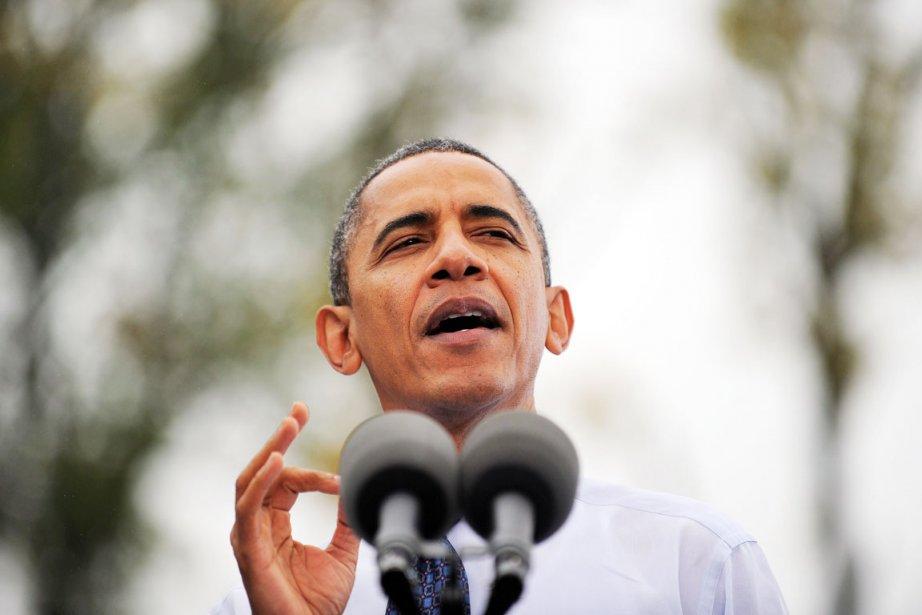 Le président sortant Barack Obama, à Fairfax en... (PHOTO JEWEL SAMAD, AFP)