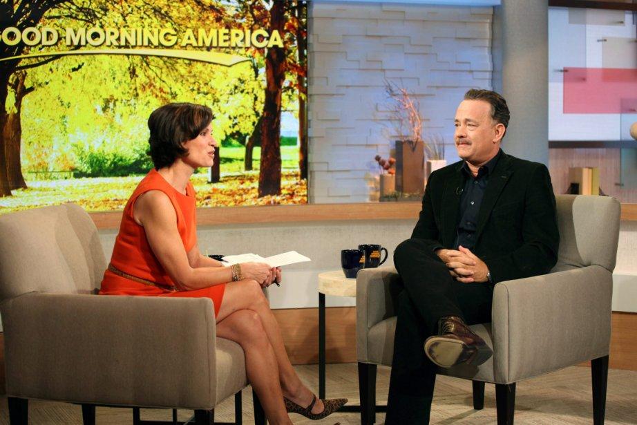 Goodman Morning America avecElizabeth Vargas et Tom Hanks.... (PHOTO FOURNIE PAR ABC)