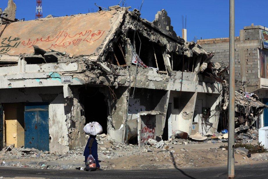 Syrte n'est plus l'ombre de ce qu'elle était.... (Photo : Mahmud Turkia, AFP)