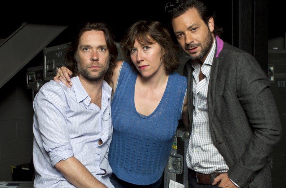 Rufus Wainwright, Martha Wainwright et Adam Cohen.... (Photo: Robert Skinner, La Presse)