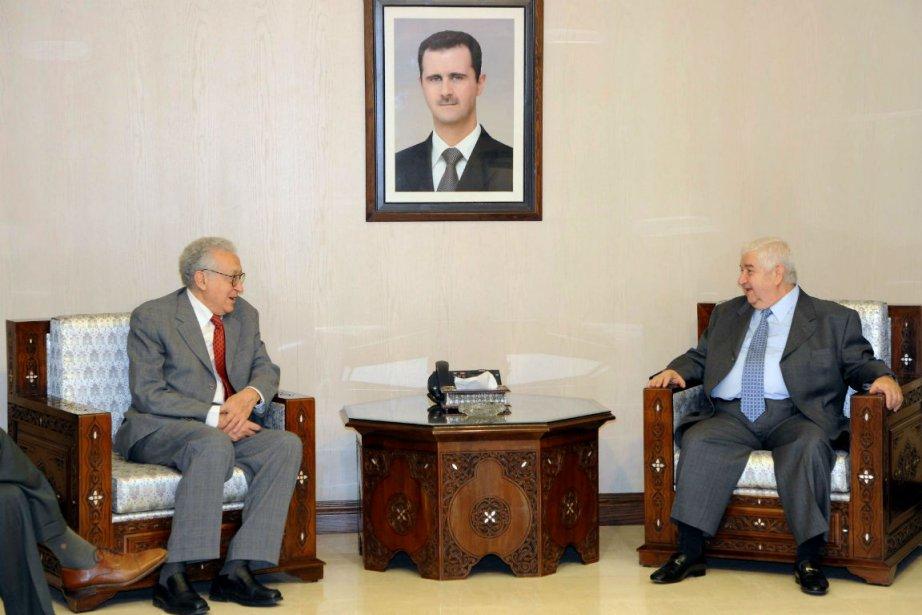 Le ministre syrien des Affaires étrangères Walid Mouallem... (Photo Agence France-Presse)