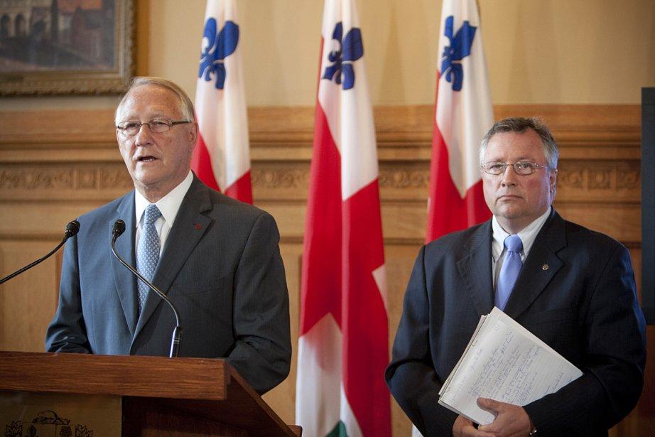Le maire de Montréal Gérald Tremblay et le... (Photo: David Boily, archives La Presse)