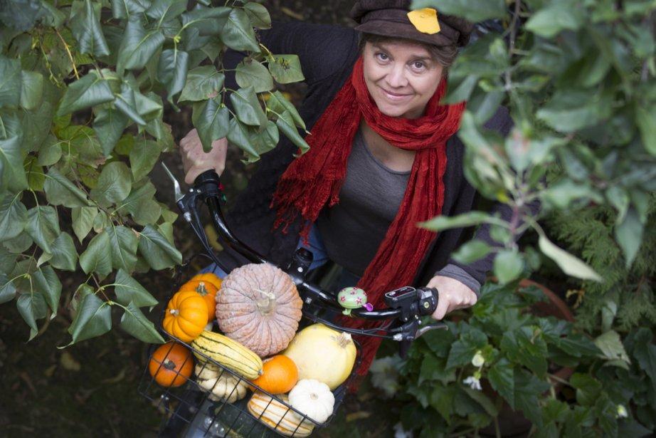 Louise Gagnon craque pour les  courges.... (Photo : Ivanoh Demers, La Presse)