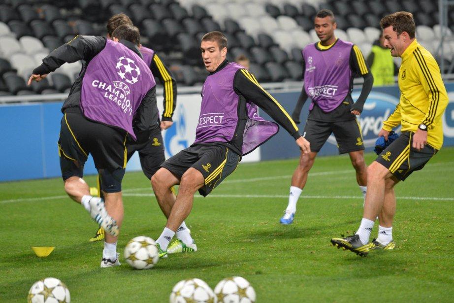 Les joueurs de Chelsea à l'entraînement.... (Photo: AFP)