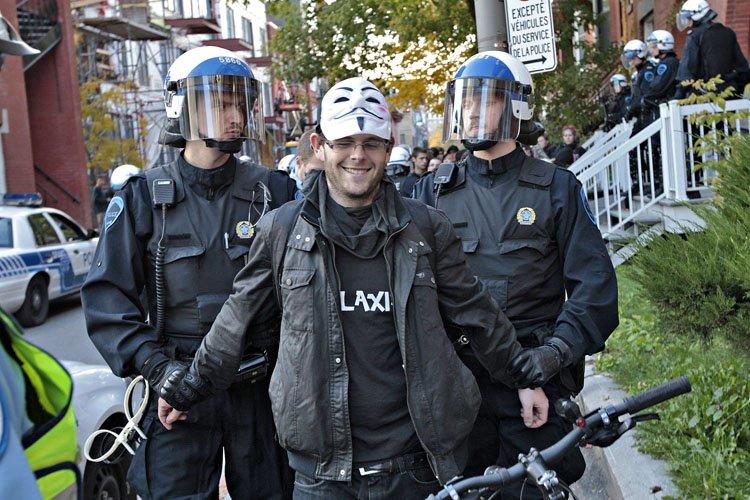 Aucun méfait ou acte criminel n'a été commis... (Photo: Patrick Sanfaçon, La Presse)