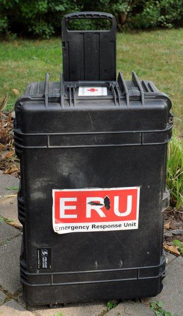 La valise de Karine Giroux est robuste pour résister à tous les voyages. | 23 octobre 2012