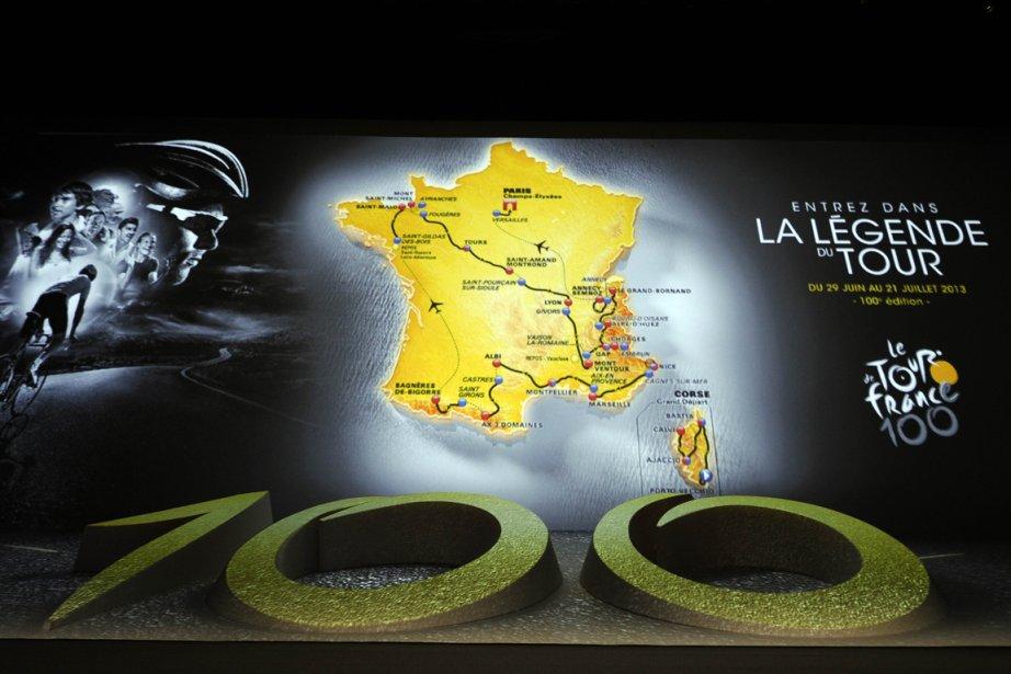 Le parcours de la 100e édition du Tour... (Photo: AFP)