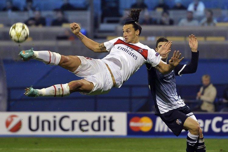 Zlatan Ibrahimovic a inscrit le premier but du... (Photo: AFP)