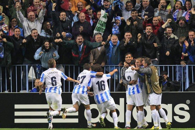 Malaga l'a logiquement emporté (1-0) contre un Milan AC très... (Photo: AP)