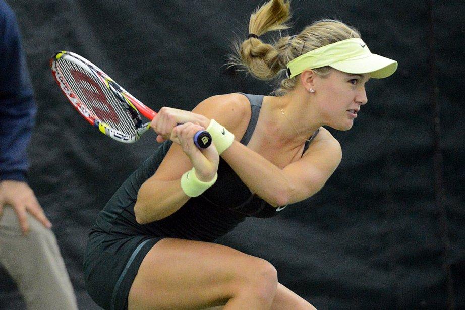 «Je me suis beaucoup améliorée depuis Wimbledon», a... (Photo: Jeannot Lévesque, Le Quotidien)