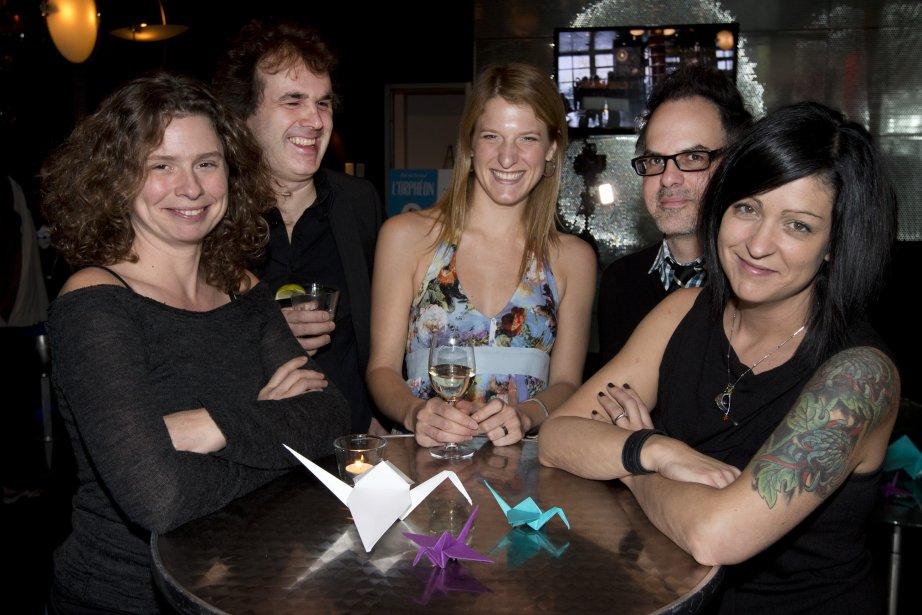 Les cinq auteurs de la série L'Orphéon. De... (Photo Robert Skinner, La Presse)
