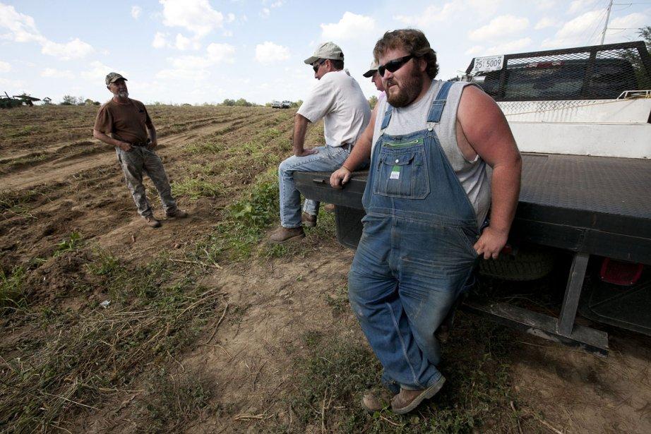 Casey Smith (à droite), producteur de patates douces... (Photo: Dave Martin, AP)