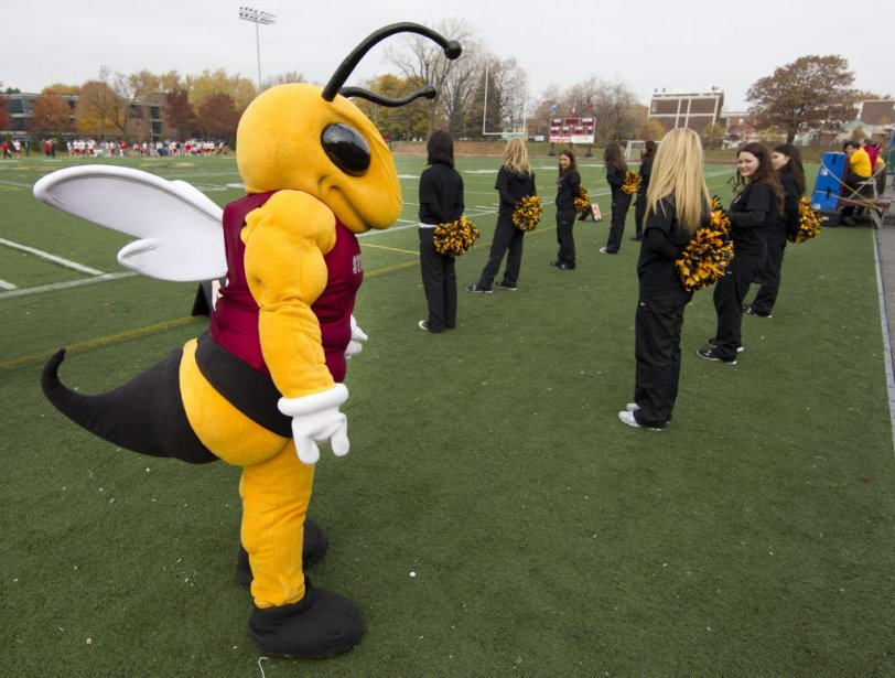 Les Stingers de Concordia contre le Rouge et Or de Laval. (Photo : Robert Skinner, La Presse)