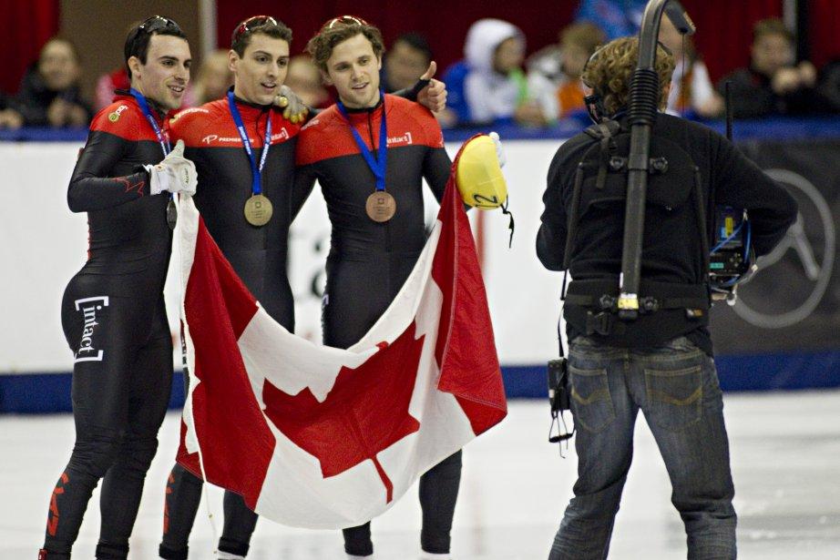 Guillaume Bastille (or) Liam Mcfarlane (bronze) et Michael Gilday (argent), tous du Canada | 28 octobre 2012