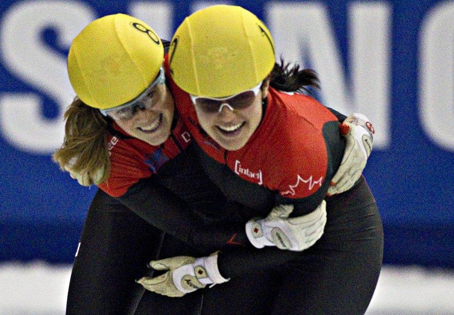 Jessica Gregg et Caroline Truchon vainqueurs du 500m (or et bronze). | 28 octobre 2012