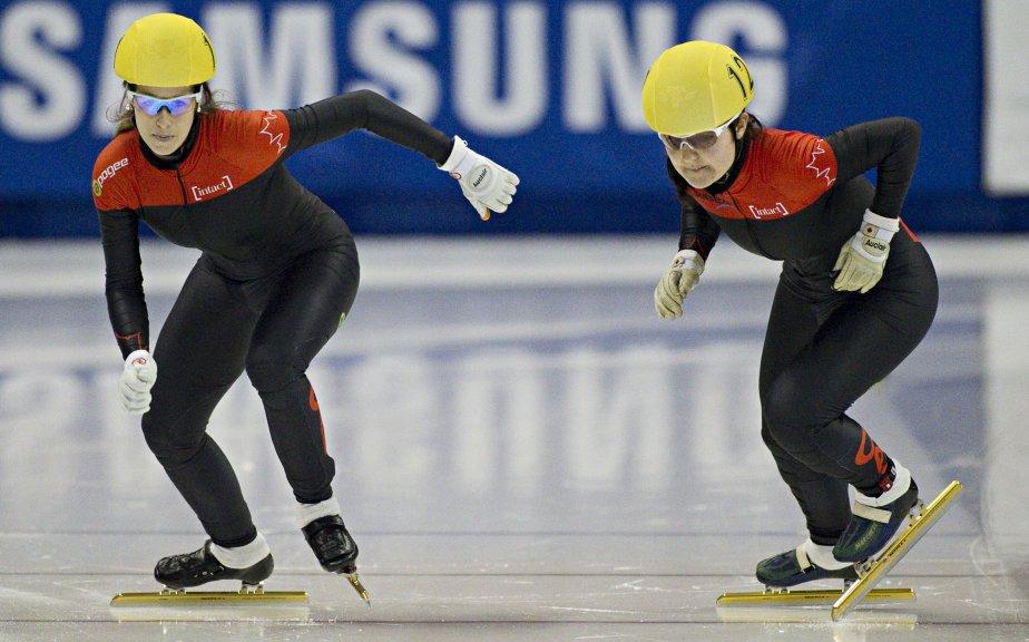 Marianne St-Gelais et Caroline Truchon en demi-finale. | 28 octobre 2012