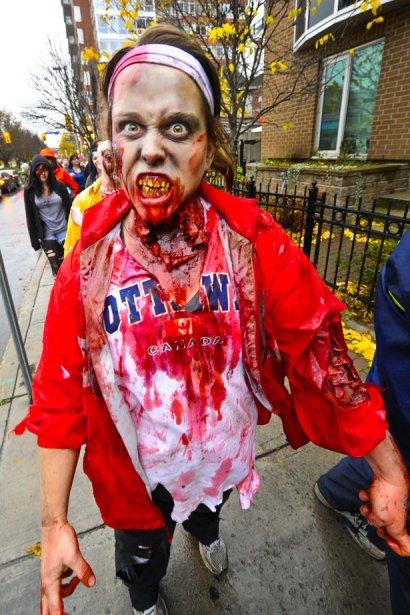 Marche des zombies à Ottawa.... | 2012-10-28 00:00:00.000