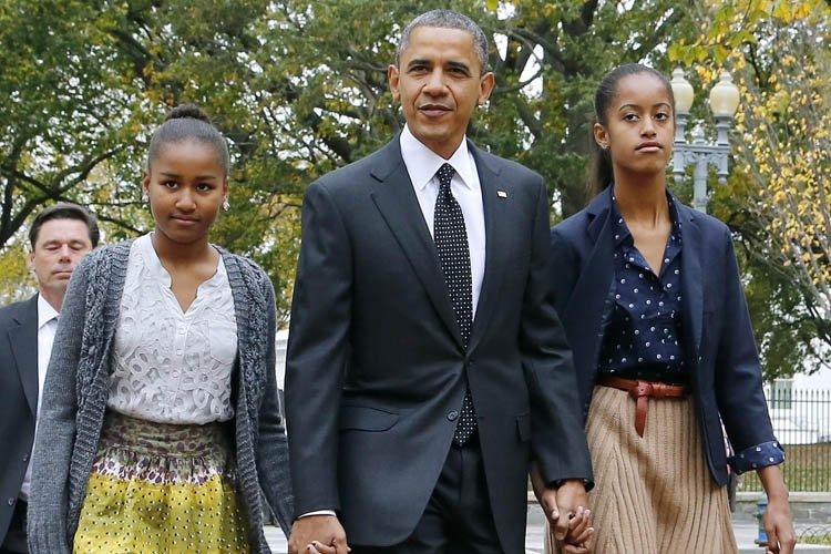 Barack Obama s'est rendu à l'église hier. Il... (Photo Reuters)
