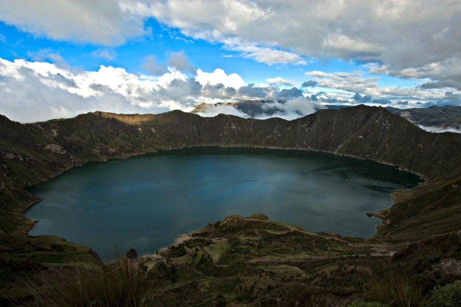 Le cratère du Quilotoa....