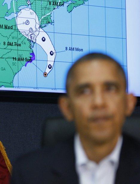 Le président Barack Obama lors d'une réunion à Washington. | 29 octobre 2012